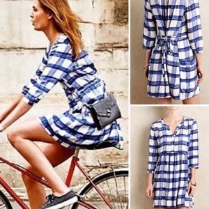 ANTHROPOLOGIE~Maeve Devery Plaid Shirtdress~XS